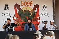 SÃO PAULO, SP 24.06.2019: COLETIVA-SP - A banda 509-E, formada pelos rappers Dexter e Afro-X, anunciou em coletiva de imprensa na tarde desta segunda-feira, na Audio, o retorno aos palcos, após 16 anos de hiato, com a turnê Vivos, que comemora os 20 anos da formação original de 1999, quando seus integrantes viviam presos no Complexo Carandiru. O show de estreia acontece na Audio, zona oeste da capital paulista, no dia 24 de agosto e segue para outras capitais. (Foto: Ale Frata/Código19)