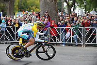 Lance Armstrong earns 10th place with a 4'37 minute time trial during the prologue to the Tour of California in downtown Sacramento, California, Saturday, February 14, 2009. (photo by Pico van Houtryve).The 2009 Tour of California began with a time trial through the streets of downtown Sacramento, California, Saturday, February 14, 2009. (photo by Pico van Houtryve) The 2009 Tour of California began with a time trial through the streets of downtown Sacramento, California, Saturday, February 14, 2009. (photo by Pico van Houtryve)