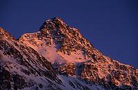 Europe/Suisse/Engadine/Maloja: Les sommets de l'Engadine au soleil couchant