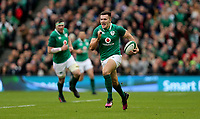 Saturday 10th March 2018 |  Ireland vs Scotland<br /> <br /> Jacob Stockdale races clear to score during the NatWest 6 Nations clash between Ireland and Scotland at the Aviva Stadium, Lansdowne Road, Dublin, Ireland. Photo by John Dickson / DICKSONDIGITAL