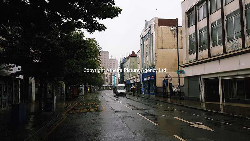 Pictured: The High Street, Swansea. Saturday 15 July 2017<br />Re: The Troublemakers Festival, on the High Street, Swansea, south Wales, UK.