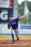 Pitcher Holden White (16) of Kingswood Oxford High School in Wallingford, Connecticut playing for the Texas Rangers scout team during the East Coast Pro Showcase on July 30, 2015 at George M. Steinbrenner Field in Tampa, Florida.  (Mike Janes/Four Seam Images)