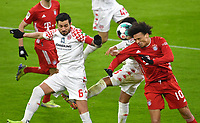 3rd January 2021, Allianz Arean, Munich Germany; Bundesliga Football, Bayern Munich versus FSV Mainz; Leroy SANE (Bayern) competes for the ball against  Phillipp MWENE (FSV Mainz 05)