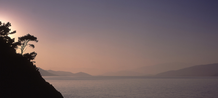 Asia, TUR, Turkey, Aegean Sea, Aegean, National park Milli Park, Typical coastline, View at  Samos Island (Greece)