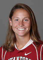 STANFORD, CA - OCTOBER 29:  Julie Christy of the Stanford Cardinal women's lacrosse team poses for a headshot on October 29, 2009 in Stanford, California.