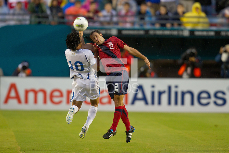 The US Men's National team defeated the Honduran National team 1-0 during an International Friendly match at Sun Life Stadium in Miami, Florida on October 8, 2011.