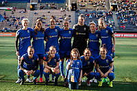 Seattle, Washington -  Saturday April 22, 2017: Seattle Reign FC starting eleven during a regular season National Women's Soccer League (NWSL) match between the Seattle Reign FC and the Houston Dash at Memorial Stadium.