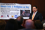 Nevada Senate Majority Leader Michael Roberson, R-Henderson, speaks at the opening ceremony of the Always Lost: A Meditation on War exhibit at the Legislative Building in Carson City, Nev., on Monday, April 6, 2015. <br />