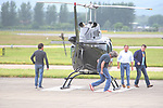 JAMES MAY , RICHARD HAMMOND , GLASGOW - JUNE 29,  2015 : <br /> <br /> James May and Richard Hammond leaving on a private helicopter at Glasgow Airport, James May checks the helicopter out before taking the controls after going to the AC/DC concert in Glasgow last night.<br /> Picture Shows  -EXCLUSIVE ALLROUNDER- Richard Hammond / James May<br /> Pictures by : Stephen Gibson / Buchanan Photos © 2015 UK<br /> Tel - 077770534057, Email : ste1919@hotmail.co.uk