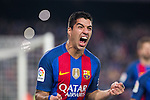 FC Barcelona's Luis Suarez during spanish La Liga match between Futbol Club Barcelona and Real Madrid  at Camp Nou Stadium in Barcelona , Spain. Decembe r03, 2016. (ALTERPHOTOS/Rodrigo Jimenez)