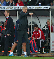 Arsenal manager Arsene Wenger makes a point on the touchline during the Barclays Premier League match between Swansea City and Arsenal played at The Liberty Stadium, Swansea on October 31st 2015