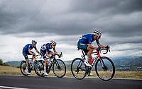 Vincenzo Nibali (ITA/Trek-Segafredo) & Guillaume Martin (FRA/Cofidis) <br /> <br /> Men's Elite Road Race from Imola to Imola (258km)<br /> <br /> 87th UCI Road World Championships 2020 - ITT (WC)<br /> <br /> ©kramon