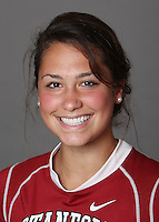 STANFORD, CA - OCTOBER 29:  Amanda Schwab of the Stanford Cardinal women's lacrosse team poses for a headshot on October 29, 2009 in Stanford, California.