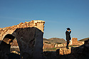 Spain - Andalusia - Manuel Hernández Montoya, a 61-year-old former actor who played in several spaghetti western movies in his childhood is standing on the ruins of Cortijo del Fraile used in several famous western movies.