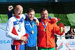 IPC European Athletics Championship 2014<br /> Swansea University<br /> <br /> Medal ceremony: Men's javelin throw F42<br /> <br /> 20.08.14<br /> Chris Vaughan-SPORTINGWALES