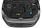 Car Stock 2021 Volkswagen Caddy Maxi-Life 5 Door Mini Mpv Engine  high angle detail view