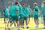 22.09.2020, Trainingsgelaende am wohninvest WESERSTADION - Platz 12, Bremen, GER, 1.FBL, Werder Bremen Training<br /> <br /> Milos Veljkovic (Werder Bremen #13)<br /> Milot Rashica (Werder Bremen #07)<br /> Joshua Sargent (Werder Bremen #19)<br /> <br /> <br /> <br /> Foto © nordphoto / Kokenge