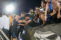 STANFORD, CA - JUNE 29: Florian Jungwirth #23, fans during a Major League Soccer (MLS) match between the San Jose Earthquakes and the LA Galaxy on June 29, 2019 at Stanford Stadium in Stanford, California.