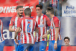Fernando Torres (R2) of Atletico de Madrid celebrates his goal with his teammates during their La Liga match between Atletico de Madrid vs Athletic de Bilbao at the Estadio Vicente Calderon on 21 May 2017 in Madrid, Spain. Photo by Diego Gonzalez Souto / Power Sport Images