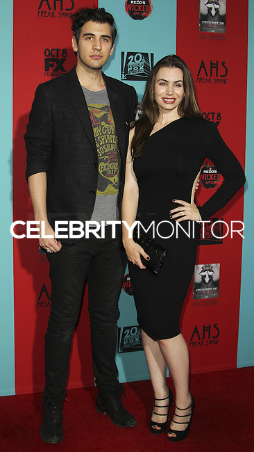 HOLLYWOOD, LOS ANGELES, CA, USA - OCTOBER 05: Nick Simmons, Sophie Simmons arrive at the Los Angeles Premiere Screening Of FX's 'American Horror Story: Freak Show' held at the TCL Chinese Theatre on October 5, 2014 in Hollywood, Los Angeles, California, United States. (Photo by Celebrity Monitor)