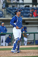 Garrett Kennedy (23) of the Rancho Cucamonga Quakes in the field during a game against the Inland Empire 66ers at LoanMart Field on May 7, 2017 in Rancho Cucamonga, California. Rancho Cucamonga defeated Inland Empire, 6-0. (Larry Goren/Four Seam Images)