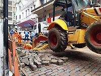 Campinas (SP), 22/02/2021 - Obras-SP - Obras na rua Barão de Jaguara em Campinas nesta segunda-feira (22).