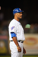 South Bend Cubs manager Jimmy Gonzalez (44) during a game against the Burlington Bees on July 22, 2016 at Four Winds Field in South Bend, Indiana.  South Bend defeated Burlington 4-3.  (Mike Janes/Four Seam Images)