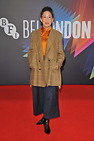 """Sandra Oh at the 65th BFI London Film Festival """"The French Dispatch"""" Headline gala, Royal Festival Hall, Belvedere Road, on Sunday 10th October 2021, in London, England, UK. <br /> CAP/CAN<br /> ©CAN/Capital Pictures"""