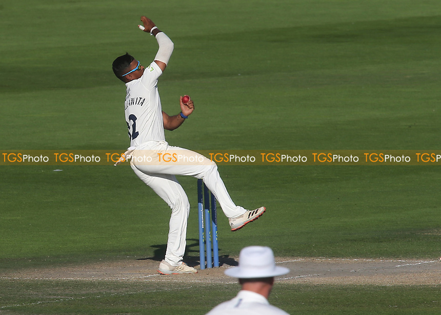 Middlesex bowler, Thilan Walallawita, in action during Sussex CCC vs Middlesex CCC, LV Insurance County Championship Division 3 Cricket at The 1st Central County Ground on 7th September 2021