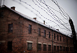 Prisoners barracks at Auschwitz I concentration camp Sunday Dec 28 2014. Auschwitz concentration camp was a network of German Nazi concentration camps and extermination camps built and operated by the Third Reich in Polish areas annexed by Nazi Germany during World War II, the camp was liberated on January 27, 1945 by Soviet troops. Photo By Eyal Warshavsky