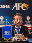 Team members of DPR Korea, Chinese Taipei, Japan and Uzbekistan attends the Match Coordination Meeting Group B during the AFC U-16 Women's Championship China 2015 at the Wuhan Jianguo Oriental Hotel on 04 November 2015 in Wuhan, China. Photo by Aitor Alcalde / Power Sport Images