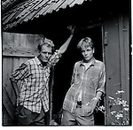 Young farm boys in Sweden. Europe before the euro.