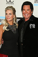 LOS ANGELES, CA - NOVEMBER 24: Kathleen McCrone, Wayne Newton arriving at the 2013 American Music Awards held at Nokia Theatre L.A. Live on November 24, 2013 in Los Angeles, California. (Photo by Celebrity Monitor)
