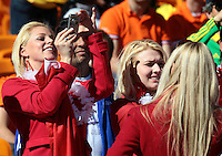 Denmark fans in the stands before the game against Holland