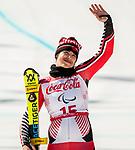 Alana Ramsay, PyeongChang 2018 - Para Alpine Skiing // Ski para-alpin.<br /> Alana Ramsay skis to the bronze in the women's standing super-G // Alana Ramsay skie pour la médaille de bronze en super-G debout féminin. 11/03/2018.