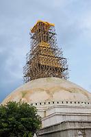 Nepal, Kathmandu. Boudhanath Stupa.