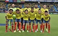 BARRANQUILLA – COLOMBIA, 09-09-2021: Jugadores de Colombia (COL) posan para una foto antes departido entre los seleccionados de Colombia (COL) y Chile (CHI), de la fecha 9 por la clasificatoria a la Copa Mundo FIFA Catar 2022, jugado en el estadio Metropolitano Roberto Melendez en Barranquilla. / Players of Colombia (COL) pose for a photo prior amatch between the teams of Colombia (COL) and Chile (CHI), of the 9th date for the FIFA World Cup Qatar 2022 Qualifier, played at Metropolitan stadium Roberto Melendez in Barranquilla. / Photo: VizzorImage / Jairo Cassiani / Cont.