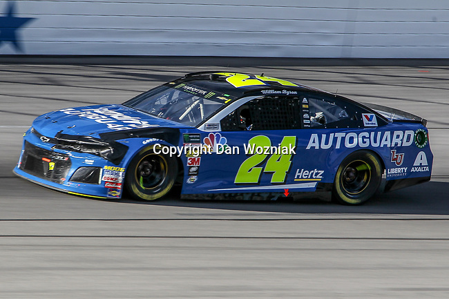 Monster Energy NASCAR Cup Series driver William Byron (24) in action during the Monster Energy NASCAR Cup Series, AAA Texas 500, race at the Texas Motor Speedway in Fort Worth,Texas.