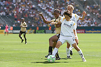 FC Gold Pride forward Formiga and  LA Sol's Aya Miyama battle. The LA Sol defeated FC Gold Pride of the Bay Area 1-0 at Home Depot Center stadium in Carson, California on Sunday April 19, 2009.  ..  .
