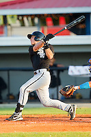 Collin Kuhn #36 of the Bristol White Sox follows through on his swing against the Burlington Royals at Burlington Athletic Park on July 10, 2011 in Burlington, North Carolina.  The White Sox defeated the Royals 4-3.   (Brian Westerholt / Four Seam Images)