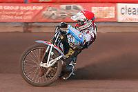 Heat 1: Peter Karlsson of Lakeside - Vortex Lakeside Hammers vs Kings Lynn Stars - Sky Sports Elite League Speedway at Arena Essex Raceway, Purfleet - 23/04/13 - MANDATORY CREDIT: Gavin Ellis/TGSPHOTO - Self billing applies where appropriate - 0845 094 6026 - contact@tgsphoto.co.uk - NO UNPAID USE.