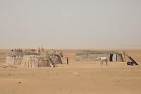 Nomadic Fulani people near the border of Senegal and Mauritania