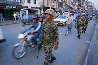 Militarization and Curfew on the way to Durbar square in Kathmandu city Nepal..-The full text reportage is available on request in Word format