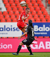 Davinia Vanmechelen (25) of Standard pictured in action during a female soccer game between Standard Femina de Liege and RSC Anderlecht on the 8th matchday in play off 1 of the 2020 - 2021 season of Belgian Scooore Womens Super League , tuesday 18 th of May 2021  in Angleur , Belgium . PHOTO SPORTPIX.BE | SPP | DAVID CATRY