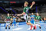 Till Hermann (FRISCH AUF! Goeppingen #41) ; BGV Handball Cup 2020 Finaltag: TVB Stuttgart vs. FRISCH AUF Goeppingen am 13.09.2020 in Stuttgart (PORSCHE Arena), Baden-Wuerttemberg, Deutschland<br /> <br /> Foto © PIX-Sportfotos *** Foto ist honorarpflichtig! *** Auf Anfrage in hoeherer Qualitaet/Aufloesung. Belegexemplar erbeten. Veroeffentlichung ausschliesslich fuer journalistisch-publizistische Zwecke. For editorial use only.