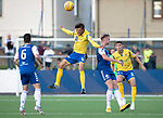 Montrose v St Johnstone….16.07.19      Links Park     Betfred Cup       <br />Murray Davidson wins this dual with Russell McLean<br />Picture by Graeme Hart. <br />Copyright Perthshire Picture Agency<br />Tel: 01738 623350  Mobile: 07990 594431