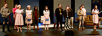 Marc Hayot/Herald Leader. Molly Self (left), Celeste Rosenberry, Lindsey Bolstad, Sierra Horer, Lily Tugwell, Emma Bryant, Hannah Green Rylei Wadsworthm Jerry Aguilar, Reece Edwards, and Katie Kelley rehearse a song from The Sound of Music.
