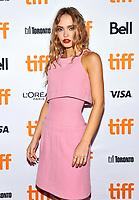 "16 September 2021 - Toronto, Ontario, Canada - Lily-Rose Depp. 2021 Toronto International Film Festival - ""Silent Night"" Premiere held at Roy Thomson Hall. Photo Credit: Brent Perniac/AdMedia"