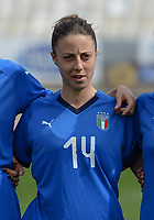 20180302 - LARNACA , CYPRUS : Italian Linda Tucceri Cimini pictured during a women's soccer game between Italy and Wales , on friday 2 March 2018 at GSZ Stadium in Larnaca , Cyprus . This is the second game in group A for Italy and Wales during the Cyprus Womens Cup , a prestigious women soccer tournament as a preparation on the World Cup 2019 qualification duels. PHOTO SPORTPIX.BE | DAVID CATRY