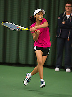 Rotterdam, The Netherlands, 07.03.2014. NOJK ,National Indoor Juniors Championships of 2014, 12and 16 years,<br /> Photo:Tennisimages/Henk Koster